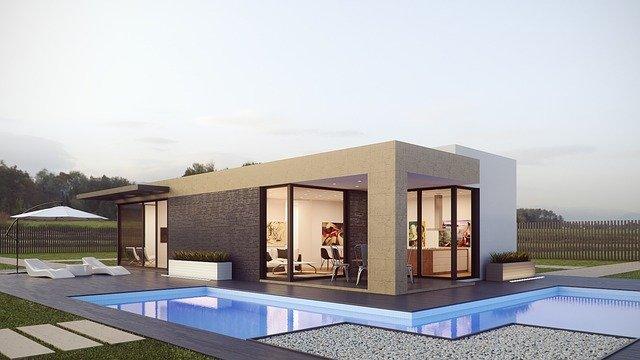 bungalov s bazénem