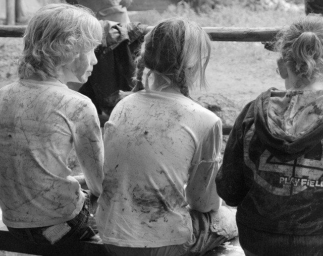 špinavé děti